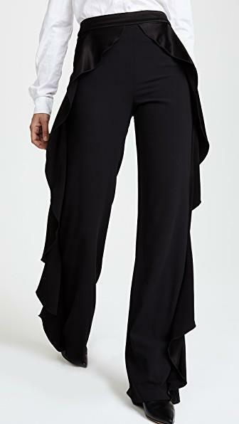 2018 AUTH NEW ALice Olivia Wallace Side Ruffle Pants  395