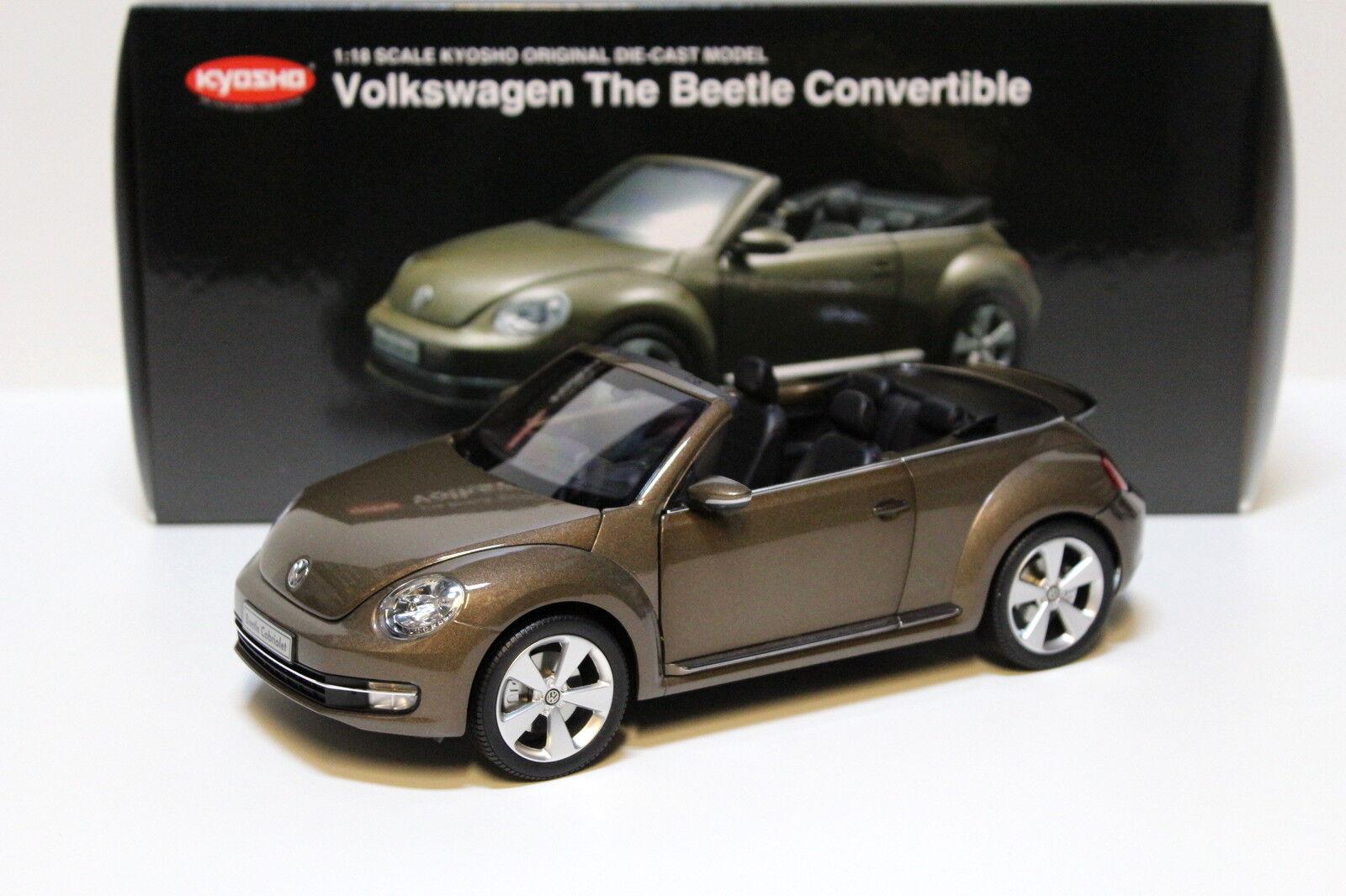 bienvenido a elegir 1 18 Kyosho VW the beetle converdeible Marrón new en en en Premium-modelCoches  los últimos modelos