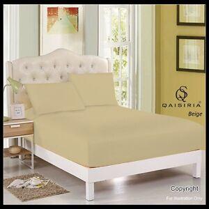 Plain-Dyed-polycoton-Drap-housse-simple-double-King-SUPER-KING-amp-pillow
