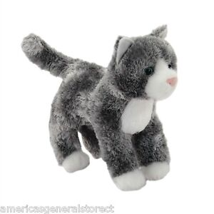 Scatter Douglas Plush 6 Long Gray Stuffed Animal Cat Brown Grey