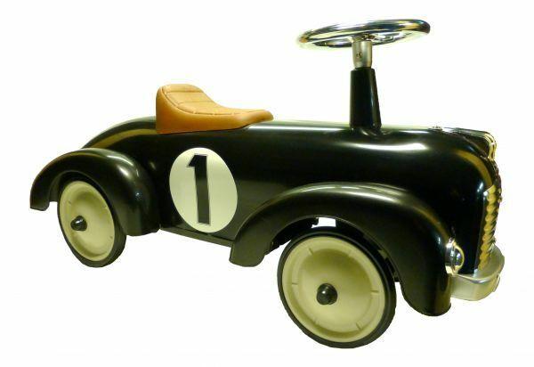 Rutscherauto schwarz aus Metall und Kunststoff