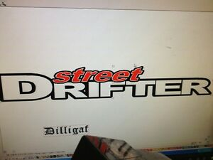 parts accessories  street drifter decal 980mm by 149mm gloss laminated sticker