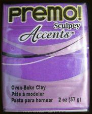 PE022-5031 Premo Sculpey Accents Polymer Clay 2oz-Purple Pearl