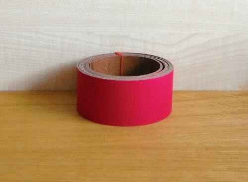 Magenta Leather Belt and Straps  2.4-2.6 MM 60cm long in various lengths