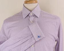 Charles Tyrwhitt Extra Slim Fit French-Cuff Check Dress Shirt Mens 15.5/33