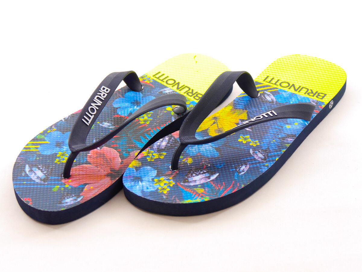 Brunotti Toe BLAU Post Summer Shoe Sandal BLAU Toe entonio Flowers 7569ac