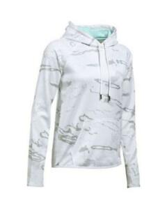 NWT-UNDER-ARMOUR-Women-039-s-Ridge-Reaper-Snow-Aqua-Camo-Logo-Hoodie-XXL-XL-Medium
