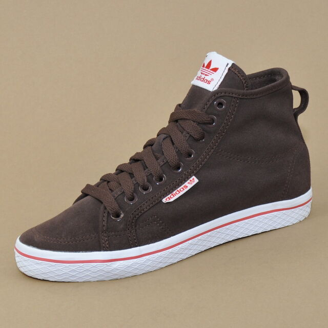 Adidas Originals Honey mid W-Women s Trainers Leather Shoes Dark Brown  Q34212 125b4a0f59