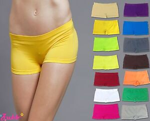 SEAMLESS DANCE EXERCISE YOGA MINI PANTIES BODY BIKE SHORTS BRIEFS SPANKIES