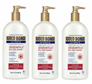 3-PACK-Gold-Bond-Ultimate-Diabetic-Dry-Skin-Relief-Lotion-13oz-041167053508YN