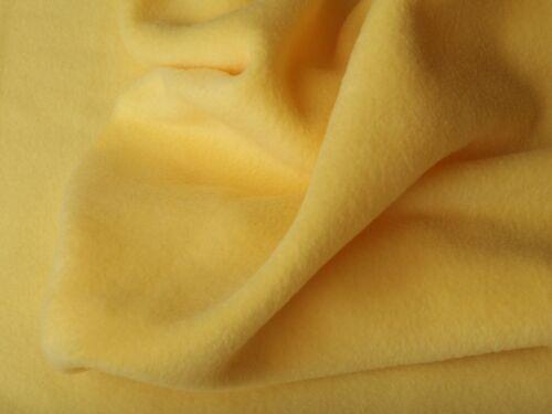 Fleece Stoff Antipilling Meterware kuschlig weich Zitrone EUR 4,97//m