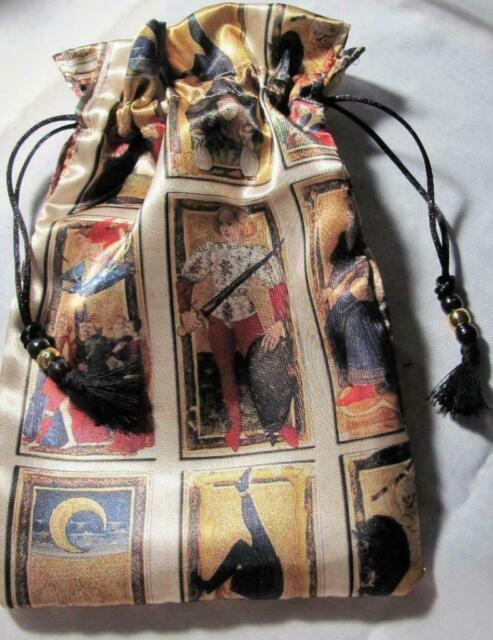 Medieval Tarot Wicca Pagan Tarot Card Drawstring Mojo Bag Pouch ~ FREE SHIPPING