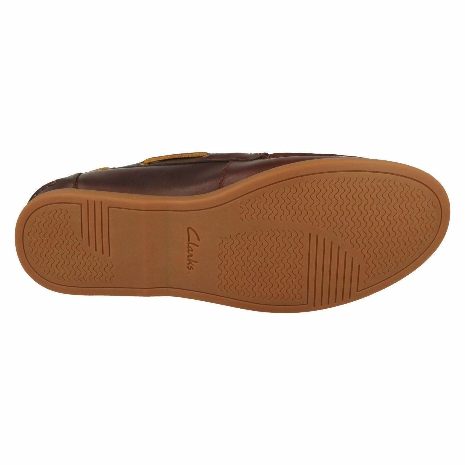 Clarks Morven Sail Shoe Mens Tan Leather Boat Shoe Sail 4ac11b