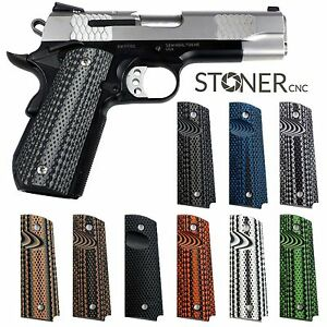 Details about 1911 Super Aggressive Grips G10 Full Size or Compact or  Springfield EMP PT1911