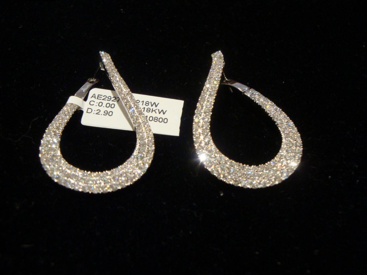 LAST DAYS 50% OFF   10800 MAGNIFICENT 18KT 3CT FANCY DIAMOND CHANDELIER EARRINGS
