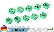 10Stk 2P Schraub-Terminal 5mm-Raster grün für Arduino RC-Modellbau Prototyping