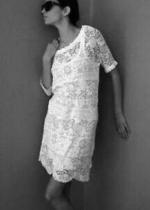 Dentelle Etoile En robe Blanche T Marant Isabel Stretch 36 PFZnII