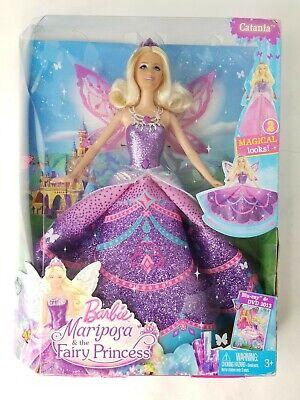 Barbie Mariposa /& the Fairy Princess Catania Doll 2 Magical Looks NEW 2012