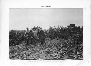WWI-Bataille-Verdun-Prisonniers-Feldgrau-Mitrailleuse-Infirmiers-A-ILLUSTRATION