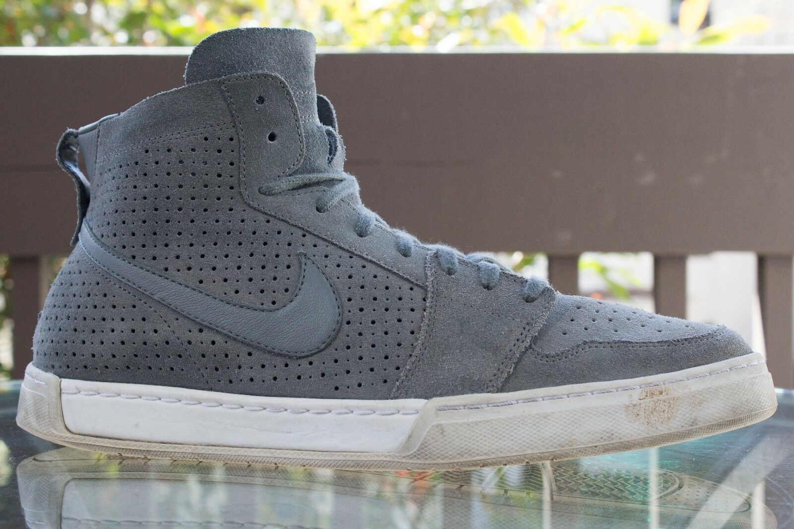 Nike Air Royal Mid Lite Grey Suede Shoes Sneakers 13 Mens 434493-008 Great discount