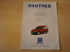 50693) Peugeot Partner Kastenwagen technische Daten & Ausstattungen Prospekt 09/