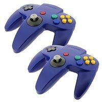 2 Pcs Long Controller Game System For Nintendo 64 N64 Blue Brand 5z