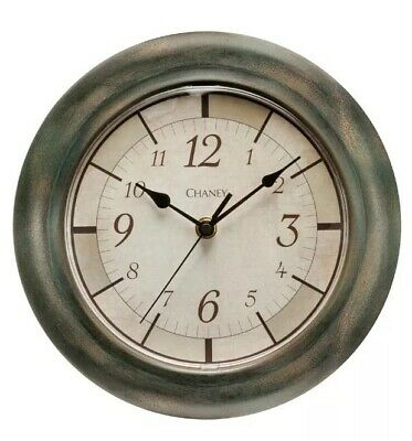 "Chaney Round Rustic Finish Wall Clock ~ 9.8/"" Diameter"