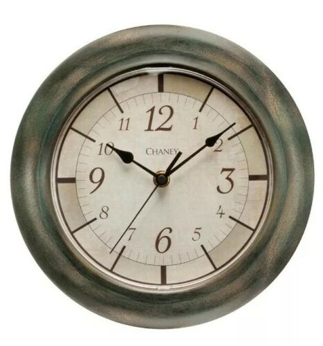 "Chaney Round Rustic Finish Wall Clock ~ 9.8/"" Diameter"
