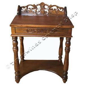 FRENCH-STYLE-HAND-CARVED-FURNITURE-HALLWAY-TABLE-WRITING-TABLE-DESK