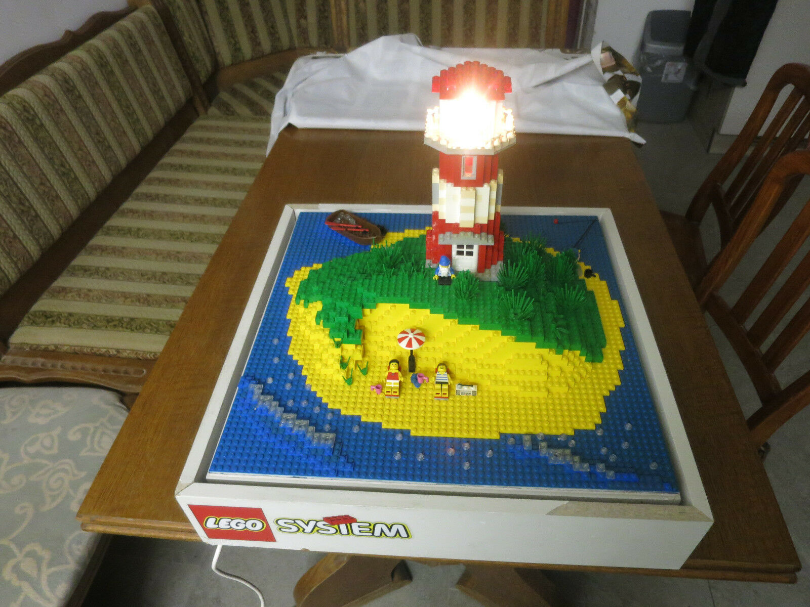 Lego System, leuchtender Leuchtturm Rarität