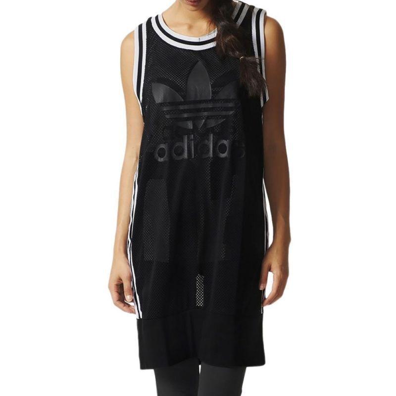 Adidas Originals Basketball Tank Dress AJ8859 Donna Nero Very Rare