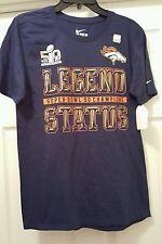 """The Nike Tee, Denver Broncos Super Bowl 50 """"Legend Status"""", Sz. SM."""