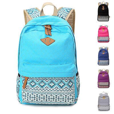 Vintage Retro Ethnic Women's Backpack for School Ladies Bag Back Shoulder Bags