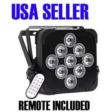 Uplight PAR Battery Powered, Wireless dmx, RGBAW+UV, 9 LED, 18 watts,2yrWarranty
