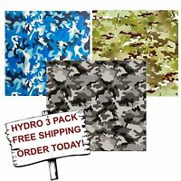 Hydro Dip Hydrographic Film Water Transfer Printing Film Army Camo 3 Pack