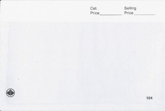 1000 Unitrade Form 104 Dealer Window Display Cards, White ...