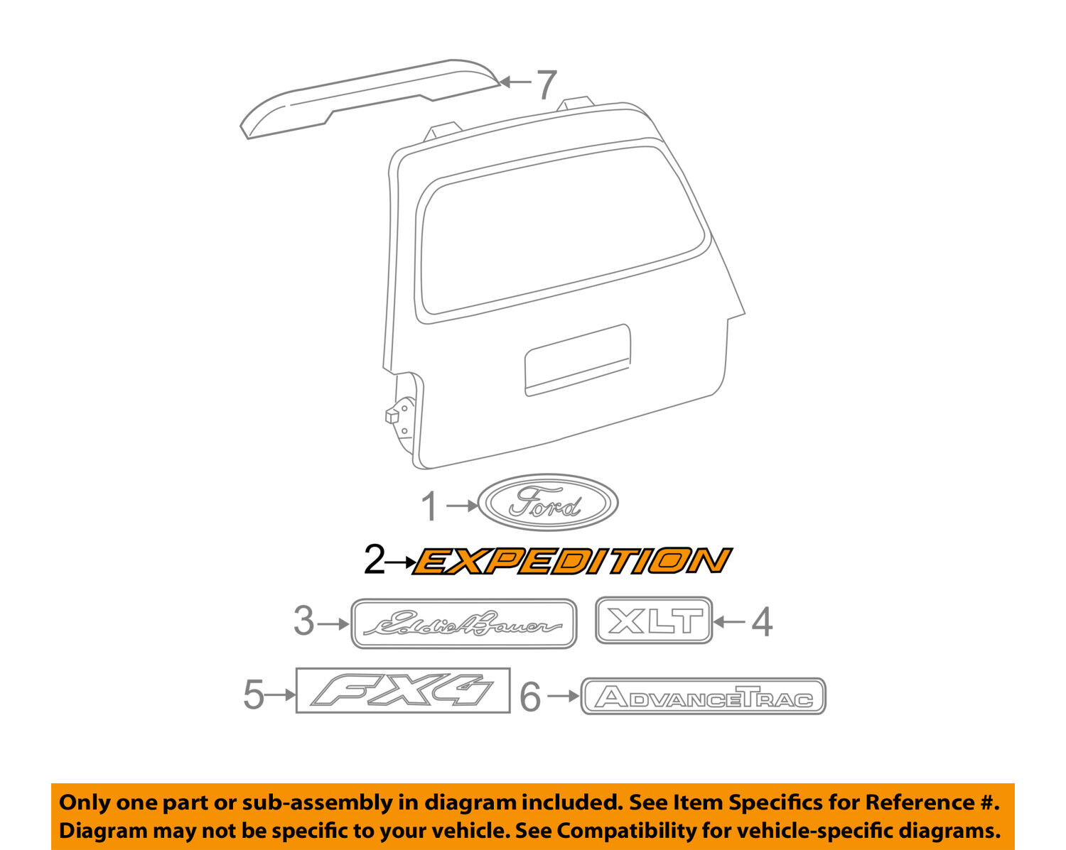 Ford Oem Expedition Liftgate Tailgate Hatch Emblem Badge Nameplate 5 4 Engine Diagram Norton Secured Powered By Verisign