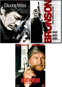 Death Wish Complete Charles Bronson Movie Series 1 2 3 4 5 NEW DVD Set Bundle