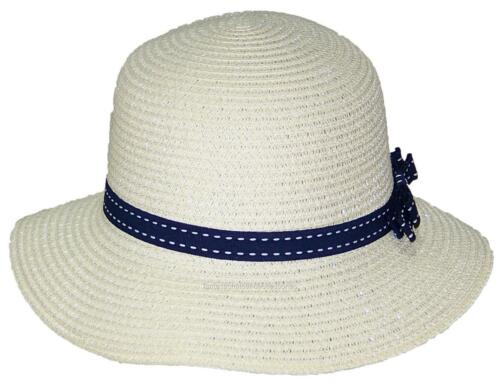 Tropic Hats Womens Cloche Sun Packable Cap W//Dotted Line Band /& Bow #914 Beige