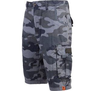 Crosshatch Camo Shorts / Holidays /Summer Cargo Combat CharcoalShorts 30-42