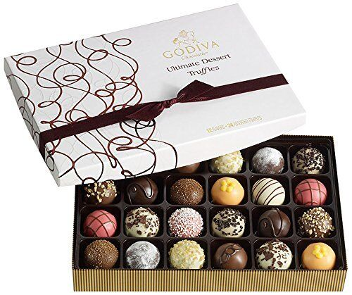 Godiva Chocolatier Ultimate Dessert Truffles Gift Box, 24 Count BRAND NEW XCL
