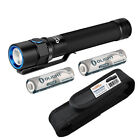 Olight S2A Baton 550 Lumens Small EDC LED Flashlight w/ 2x AA & Holster - Black
