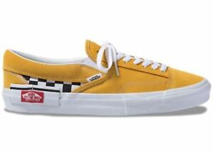 Mens-Vans-UA-Slip-On-Cap-Checkerboard-Yolk-Yellow-True-White-Black-VN0A3WM5VLY