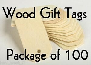 WOOD-GIFT-TAG-2-1-4-034-Cutout-Craft-Shape-Unfinished-Lot-of-100-by-PLD