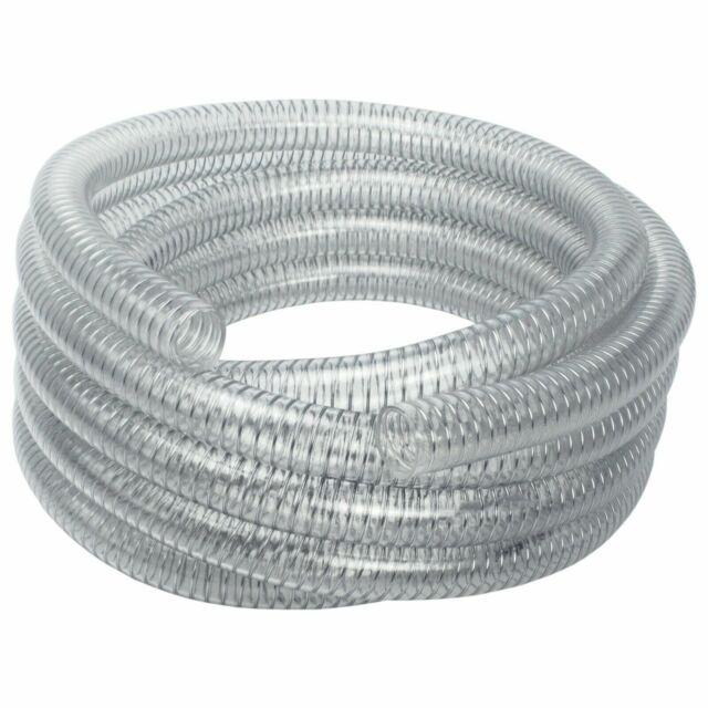 "AWM 1/"" 50m Saugschlauch 25//33 Transparent Spiralschlauch Druckschlauch PVC"