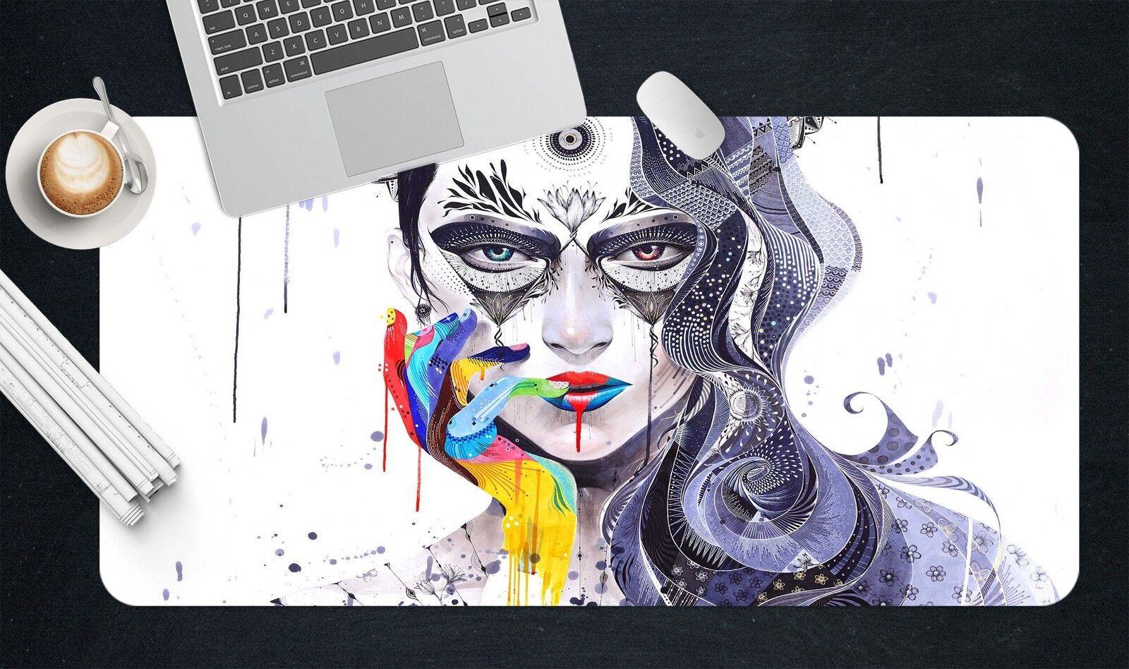 3D Graffiti Mädchen 509 Rutschfest Büro Schreibtisch Mauspad Mauspad Mauspad Tastatur Spiel d2d6ff