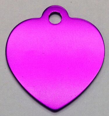 100 Bulk ID Wholesale Heart Pet Blank identification tags Anodized Aluminum