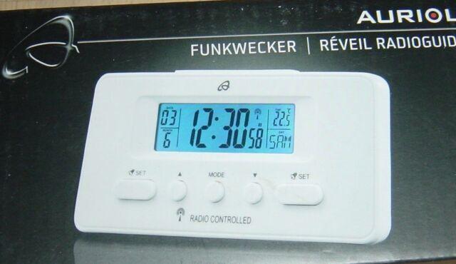 Funkwecker mit Datum / Temperatur,WEISS,NEU!