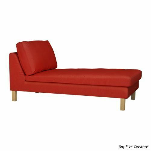 IKEA Karlstad Chaise Lounge Chair Cover Korndal Red Couch