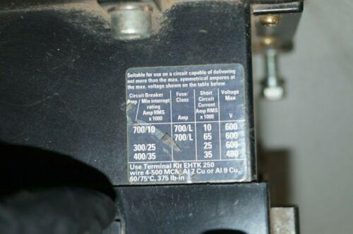 ABB EH 250 Contactor 600 VAC 300 A 75 HP 250 HP NEMA SIZE 5